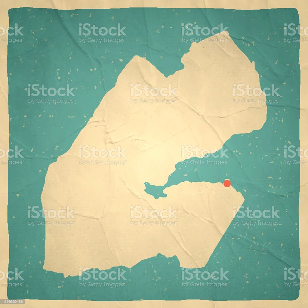 Djibouti Map On Old Paper Vintage Texture Stock Vector Art & More ...