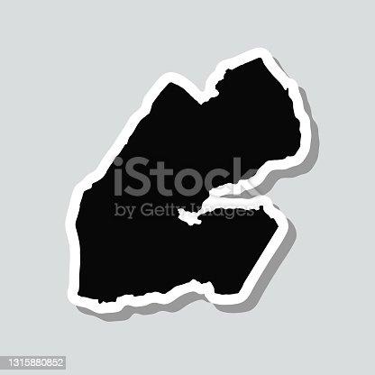 istock Djibouti map sticker on gray background 1315880852