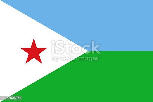 istock Djibouti national flag graphics design. 1277606271
