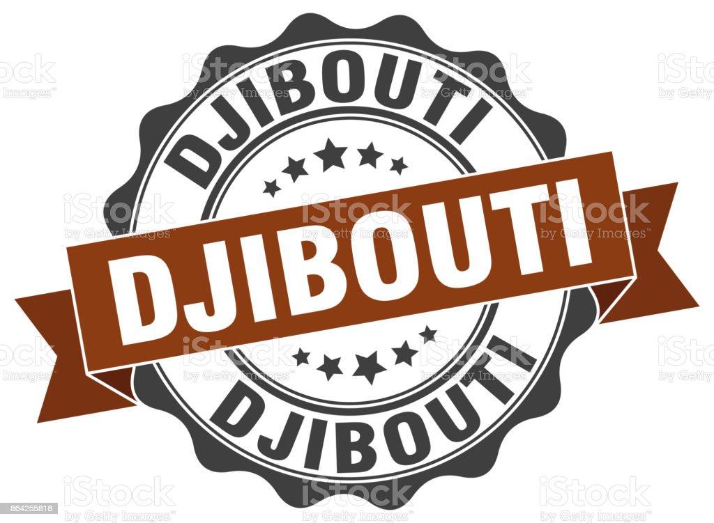 Djibouti round ribbon seal royalty-free djibouti round ribbon seal stock vector art & more images of award ribbon