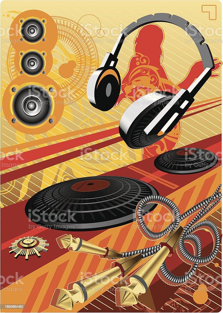 DJs Equipment royalty-free stock vector art