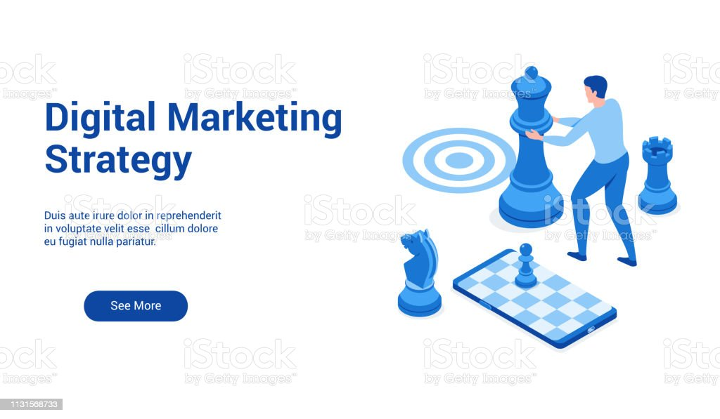 dm strategy 3d template 2 - Royalty-free Abstrato arte vetorial