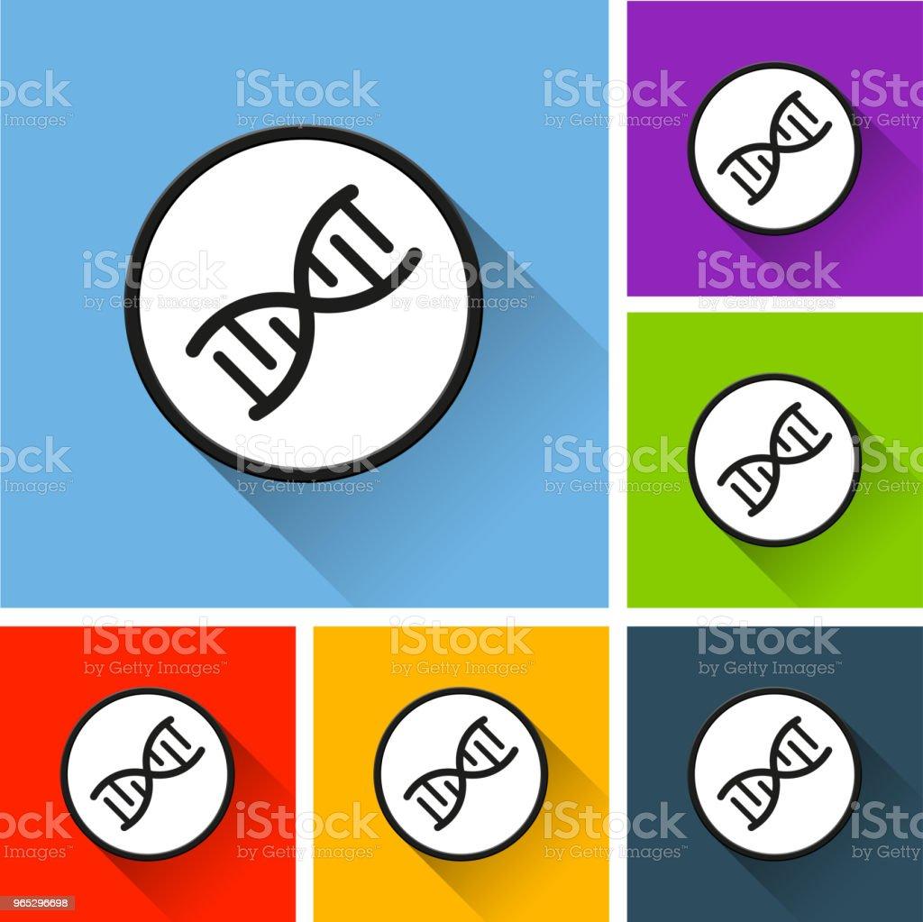 dna icons with long shadow dna icons with long shadow - stockowe grafiki wektorowe i więcej obrazów biologia - nauka royalty-free