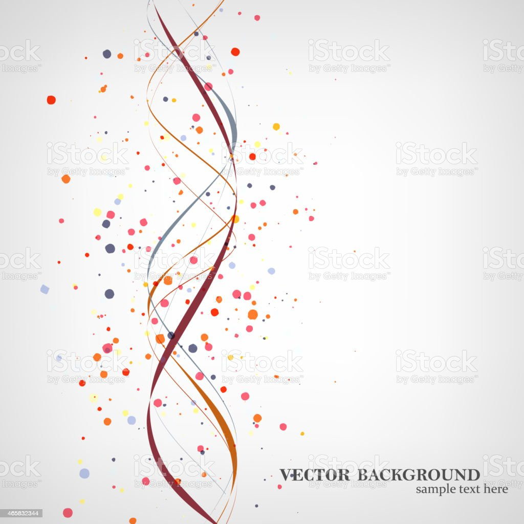 Dna molecule illustration vector art illustration