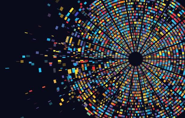 ilustraciones, imágenes clip art, dibujos animados e iconos de stock de infografía de prueba de adn. mapa de secuencia del genoma. arquitectura cromosómica, gráfico de secuenciación de moléculas. concepto genético - adn