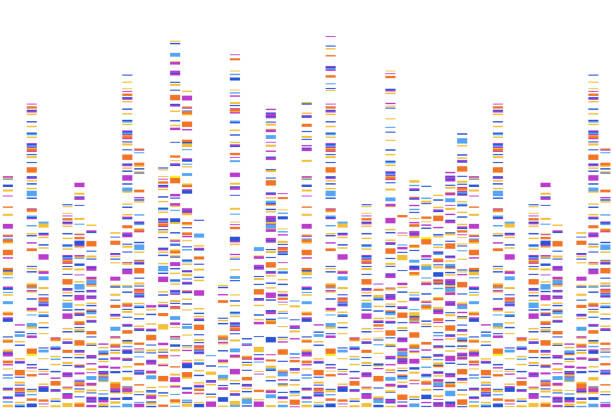Dna test infographic. Vector illustration. Genome sequence map. Template for your design. Background, wallpaper. Barcoding. Big Genomic Data Visualization Dna test infographic. Vector illustration. Genome sequence map. Template for your design. genomics stock illustrations