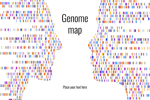 Dna Test Infographic Vector Illustration Genome Sequence Map Template For Your Design Background Wallpaper Barcoding Big Genomic Data Visualization Stock Illustration - Download Image Now