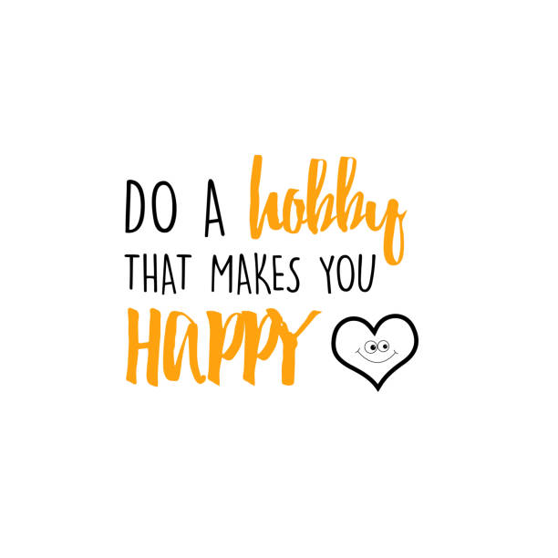 Do a hobby that makes you happy vector art illustration