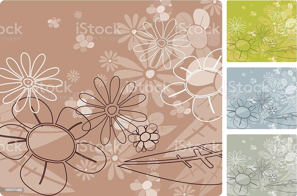 I do flowers too! royalty-free stock vector art