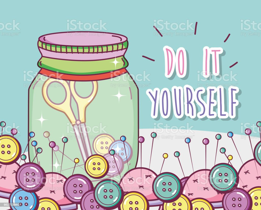 Do it yourself crafts concept stock vector art more images of do it yourself crafts concept royalty free do it yourself crafts concept stock vector art solutioingenieria Image collections