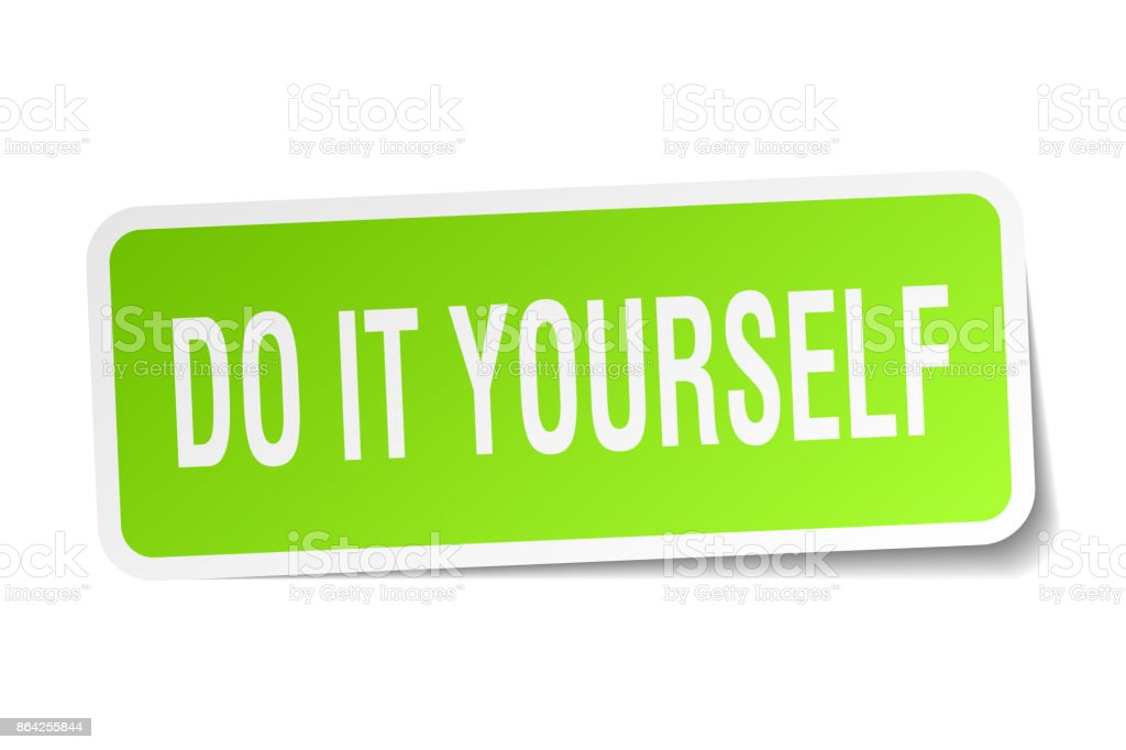 do it yourself square sticker on white royalty-free do it yourself square sticker on white stock vector art & more images of badge