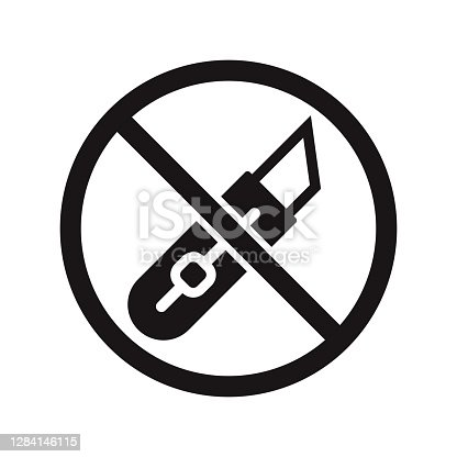 istock Do Not Cut Icon on Transparent Background 1284146115
