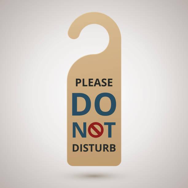 Bitte nicht stören. Karton Türhänger, Vektor-illustration – Vektorgrafik