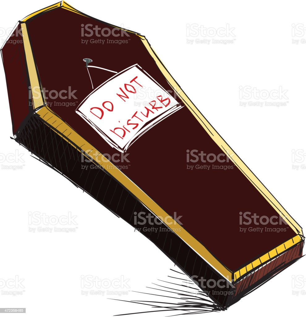 Do not disturb coffin isolated on white royalty-free do not disturb coffin isolated on white stock vector art & more images of autumn
