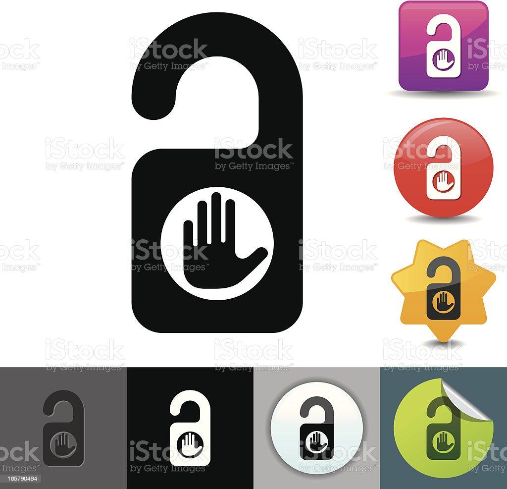 Do not disturb icon   solicosi series vector art illustration