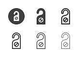 Do Not Disturb Icons Multi Series Vector EPS File.