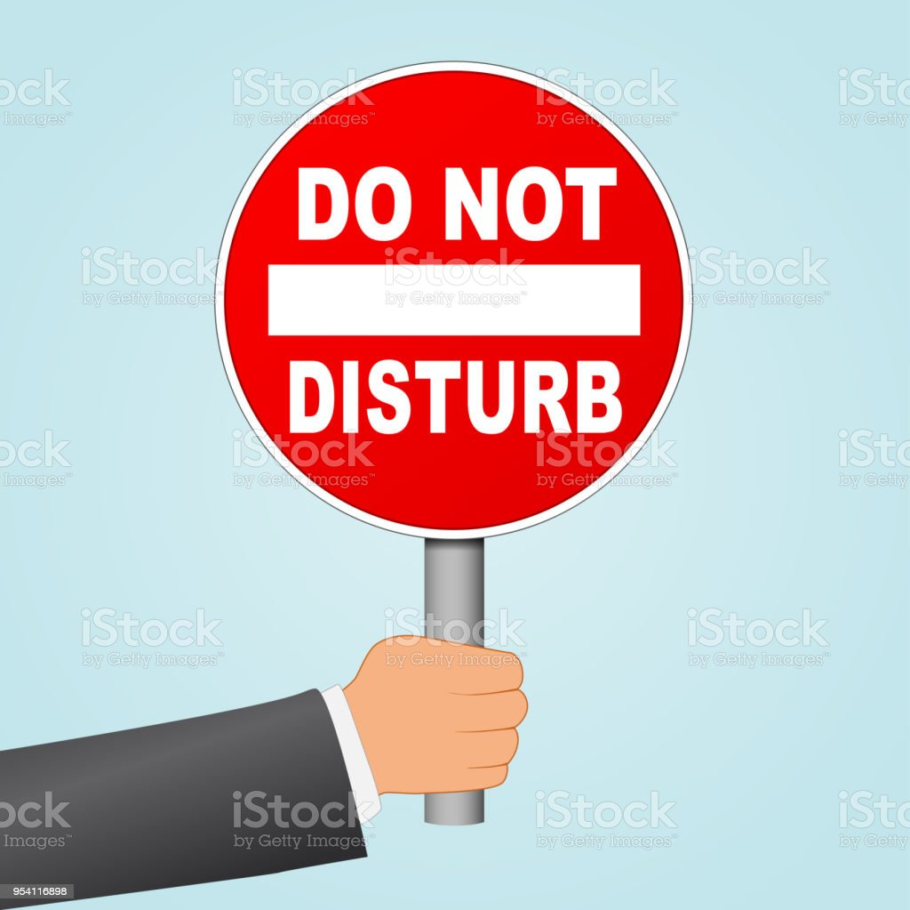 do not disturb sign in hand stock vector art more images of banner