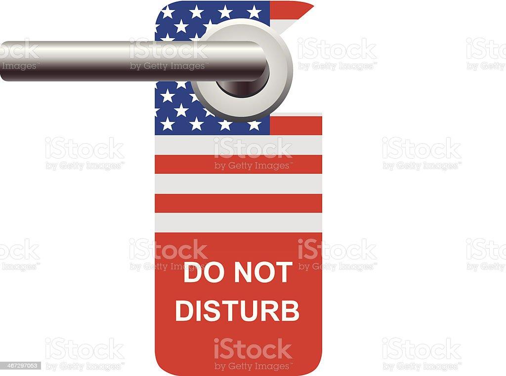 Do Not Disturb USA vector art illustration