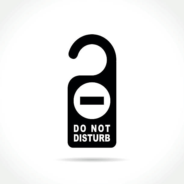 do not disturb Illustration of do not disturb icon on white background inconvenience stock illustrations