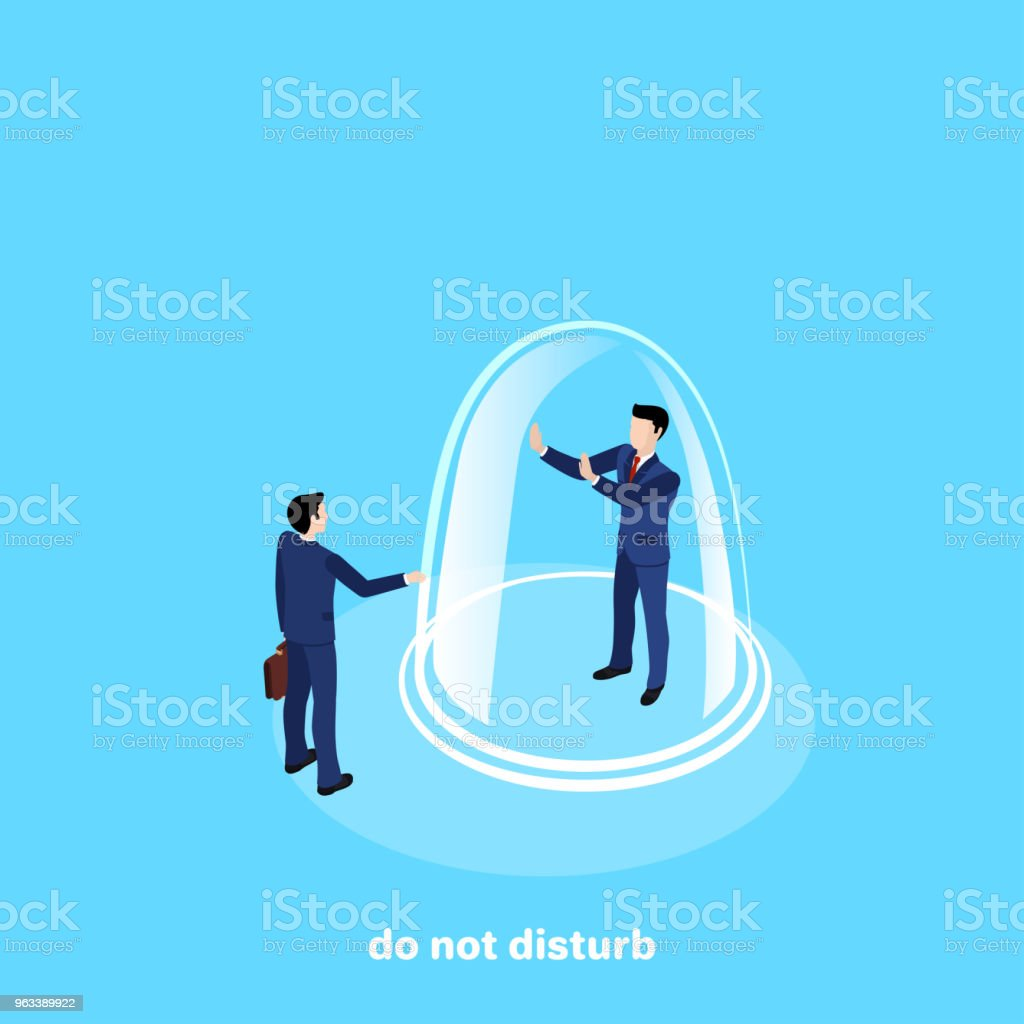 do not disturb - Grafika wektorowa royalty-free (Bańka)