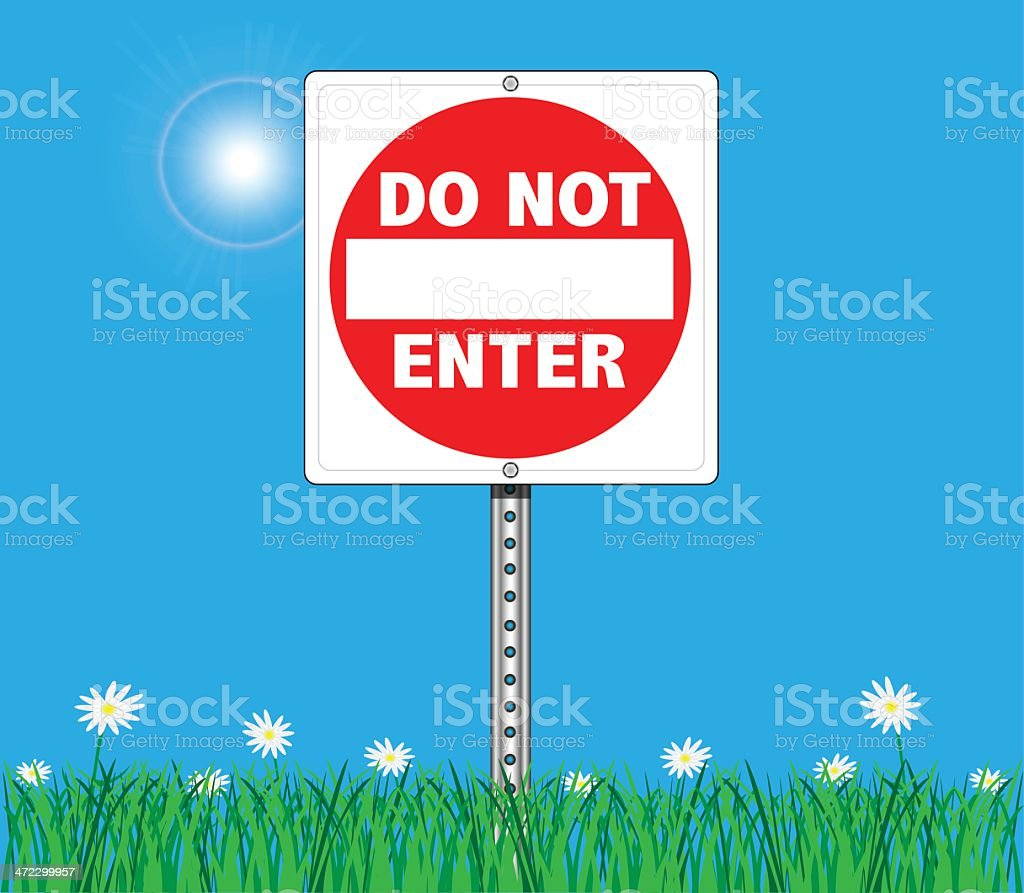 Do Not Enter Sign On Sky Background royalty-free do not enter sign on sky background stock vector art & more images of advertisement