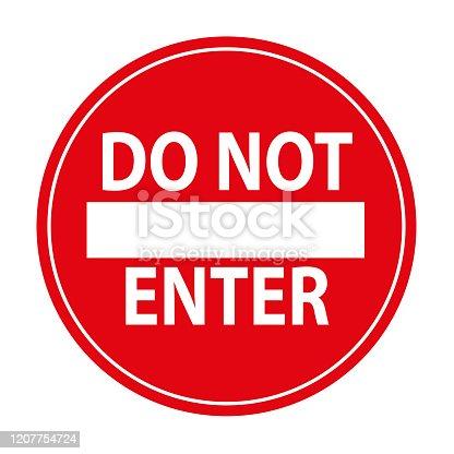 do not enter sign. vector icon.