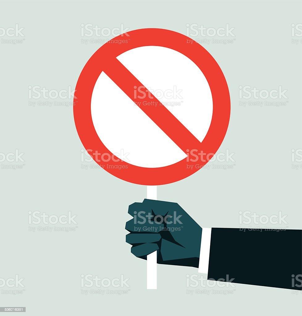 Do Not Enter Sign vector art illustration