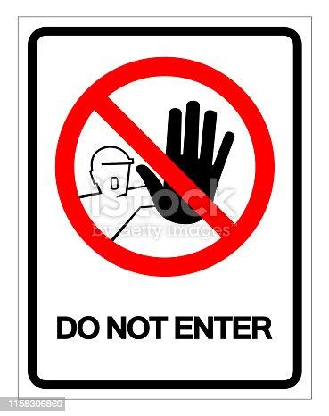 Do Not Enter Symbol Sign, Vector Illustration, Isolate On White Background Label .EPS10
