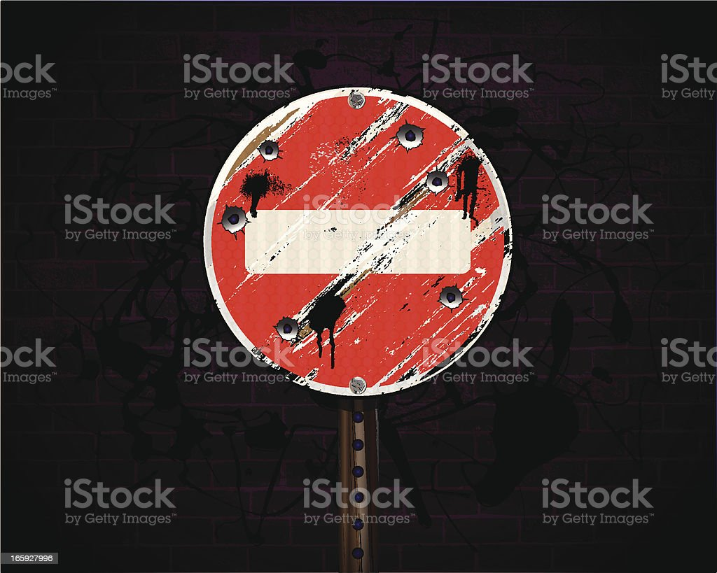 Do Not Enter | Urban Grunge Background royalty-free do not enter urban grunge background stock vector art & more images of advertisement