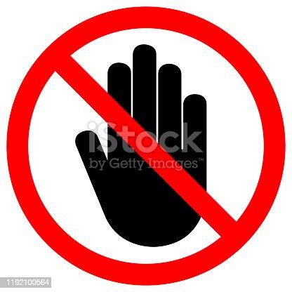 Do Not Entry Symbol Sign,Vector Illustration, Isolate On White Background Label. EPS10