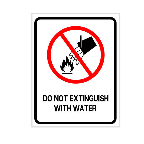 Do Not Extinguish With Water Symbol Sign, Vector Illustration, Isolate On White Background Label .EPS10 vector art illustration