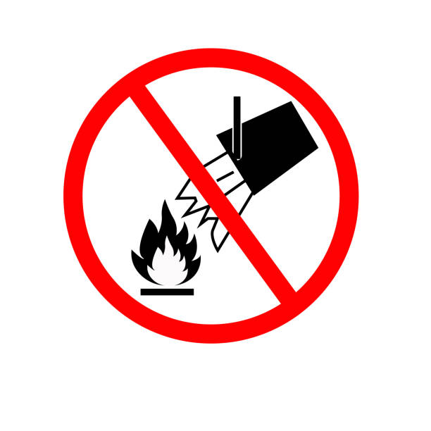 Do Not Extinguish With Water Symbol, Vector Illustration, Isolate White Background Icon. EPS10 vector art illustration