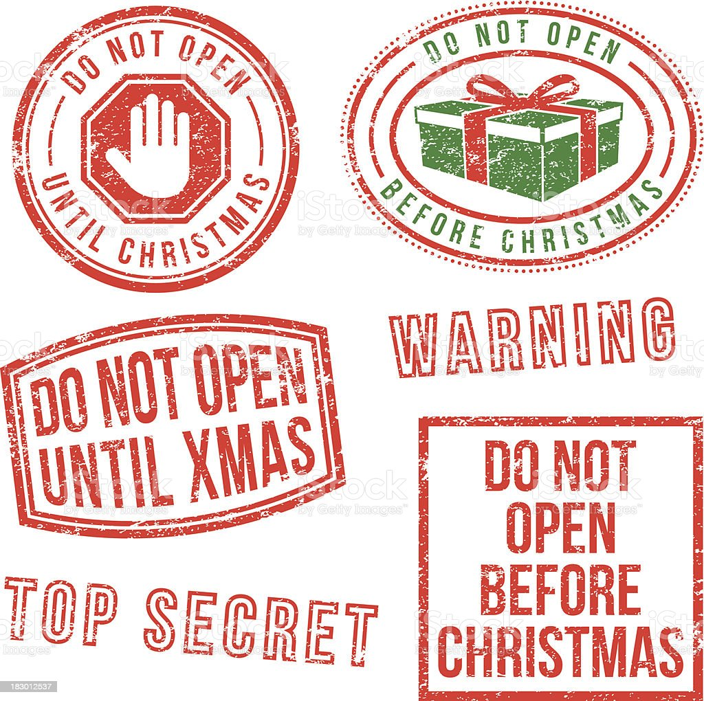 Dont Open Till Christmas.Do Not Open Until Christmas Stock Illustration Download
