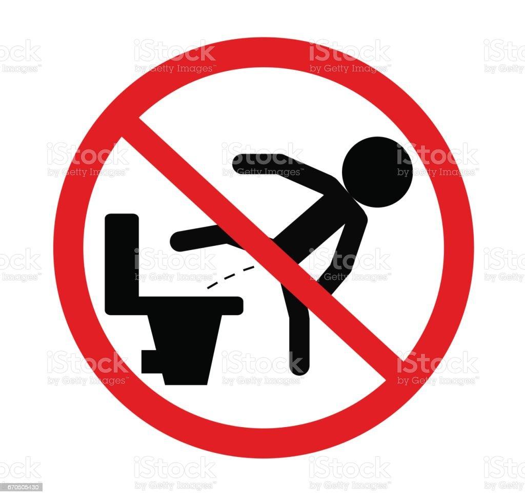 Clip art no peeing on toilet seat