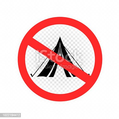 istock do not set camp tent sign icon 1022194412