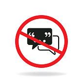 do not speak. eps 10 vector file