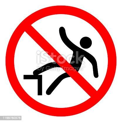 Do Not Step On Symbol Sign, Vector Illustration, Isolate On White Background Label .EPS10