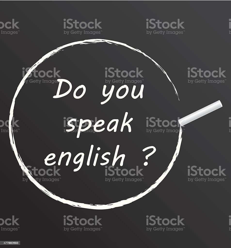 Do you speak english ? royalty-free stock vector art