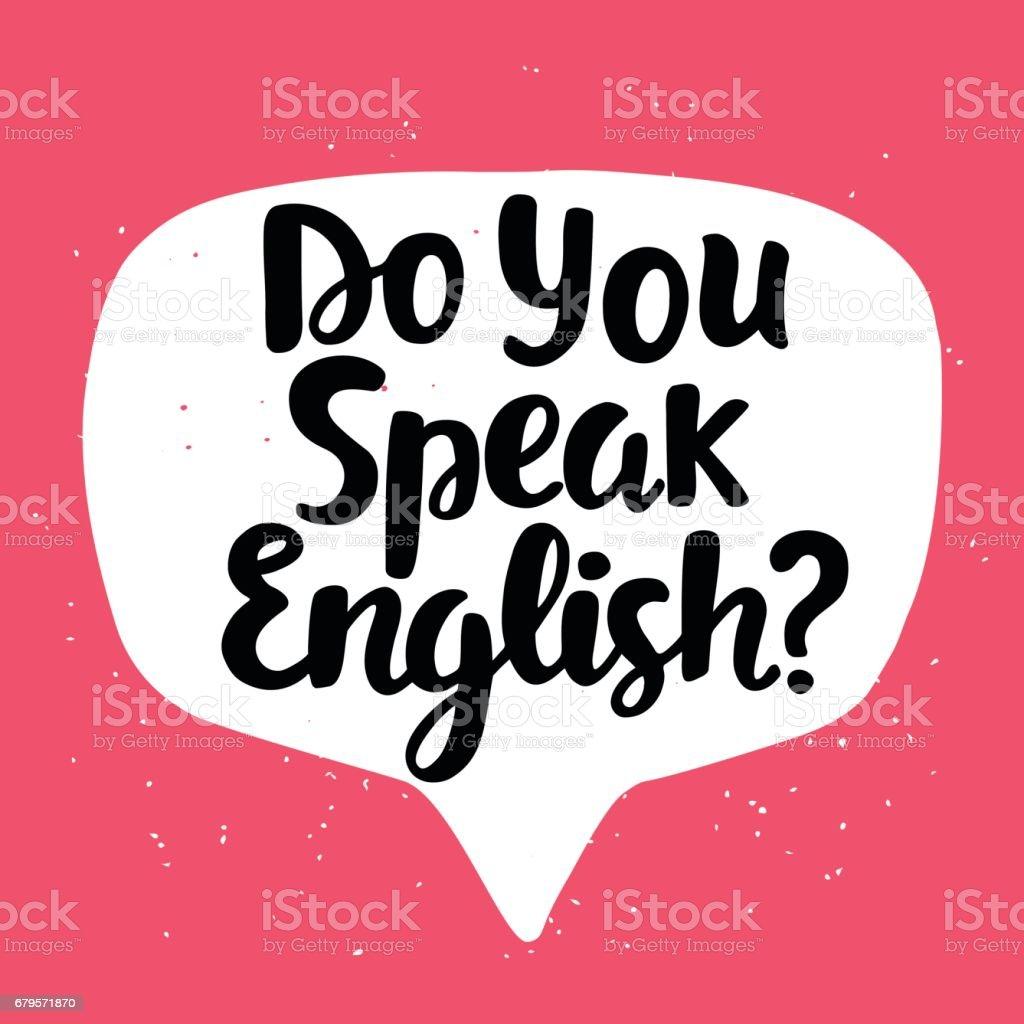 Parlez-vous français? - Illustration vectorielle