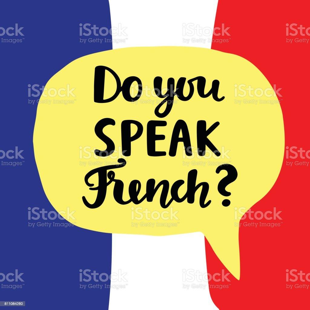 ich spreche nicht französisch