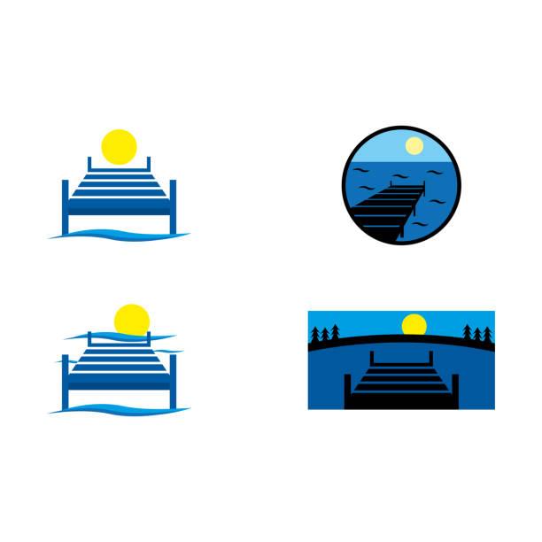 ドック - 桟橋点のイラスト素材/クリップアート素材/マンガ素材/アイコン素材