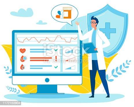 istock Doctor Analysing Indicators and Prescribing Pills. 1172150904