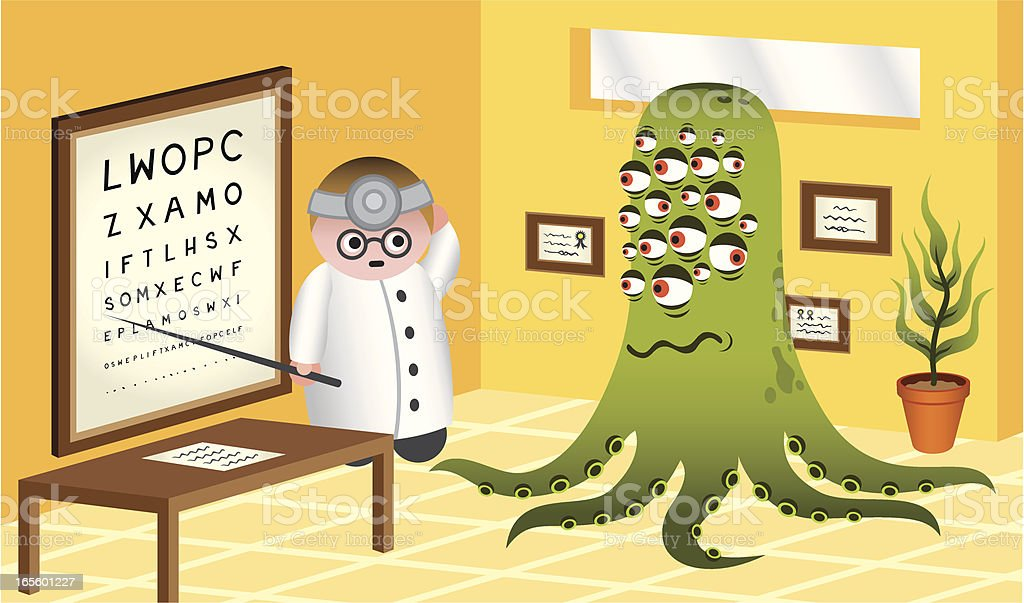 Doctor And Alien royalty-free stock vector art