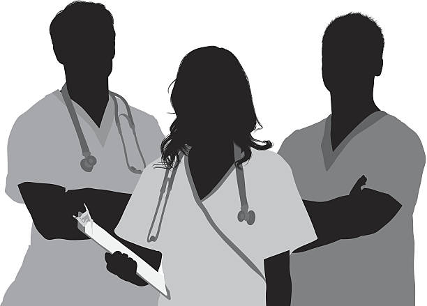 Doctor and patient Doctor and patienthttp://www.twodozendesign.info/i/1.png male nurse stock illustrations