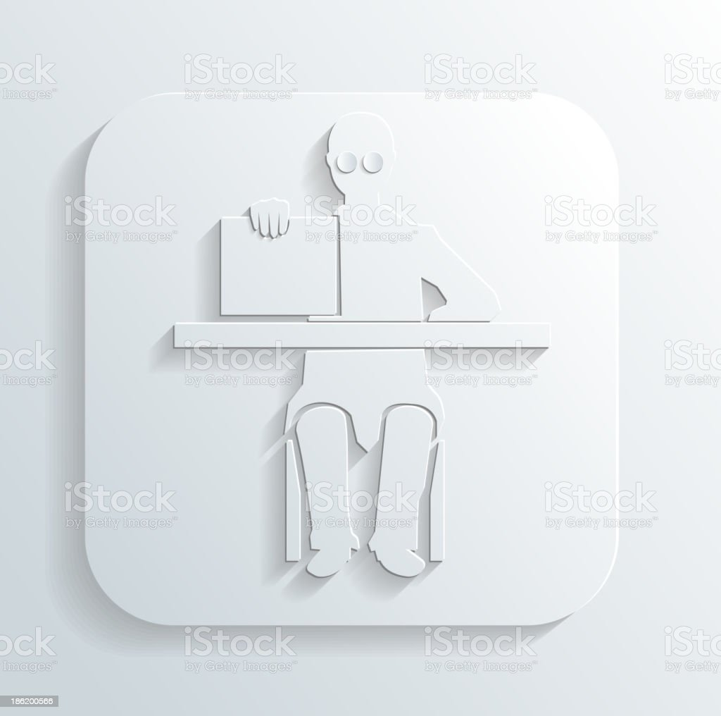 Doctor at the table icon vector royalty-free stock vector art