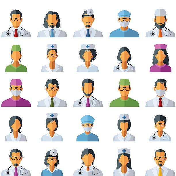 doctor avatar icons - surgeon 幅插畫檔、美工圖案、卡通及圖標