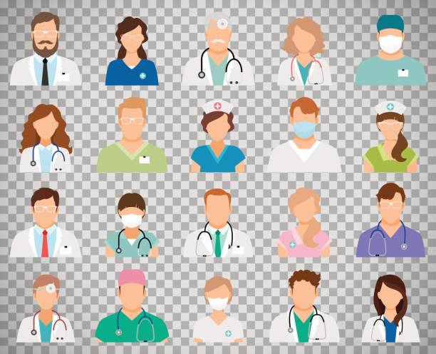 醫生化身在透明背景上 - surgeon 幅插畫檔、美工圖案、卡通及圖標