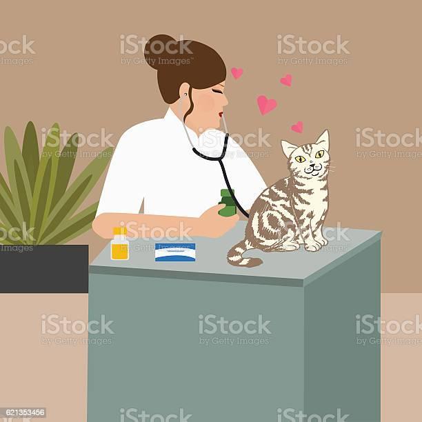 Doctor cat veterinarian nurse examining vector id621353456?b=1&k=6&m=621353456&s=612x612&h=ujs2adbvgpunmdlpeaws9go0n6k55skfhsbirs46kps=