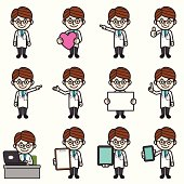 Doctor character various poses.