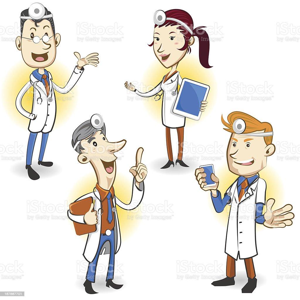 Médico de carácter - ilustración de arte vectorial